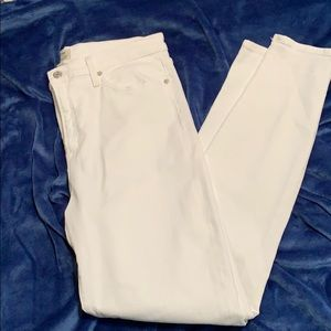 Jcrew 9 inch high-rise toothpick white jeans 32T